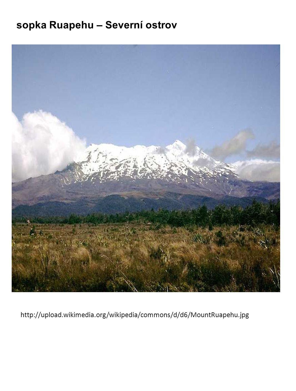 sopka Ruapehu – Severní ostrov