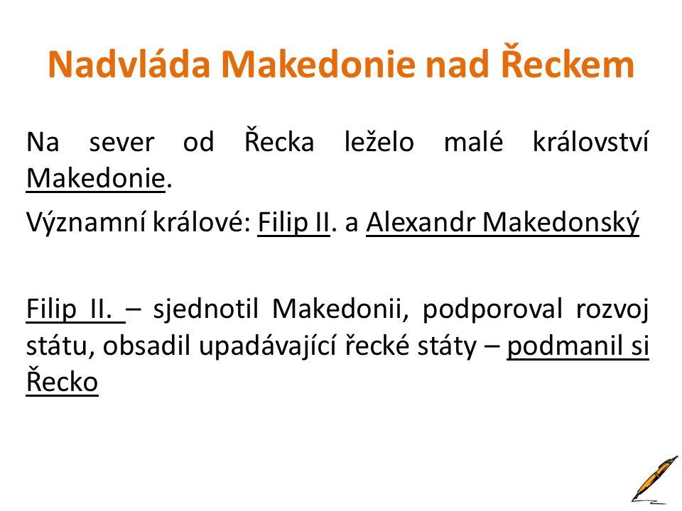 Nadvláda Makedonie nad Řeckem