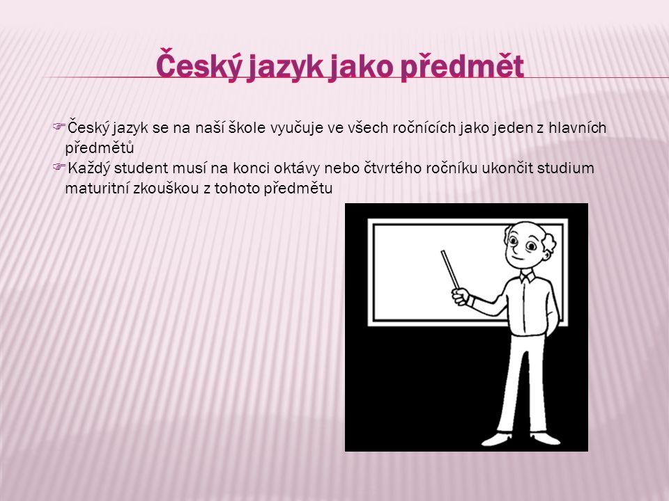 Český jazyk jako předmět