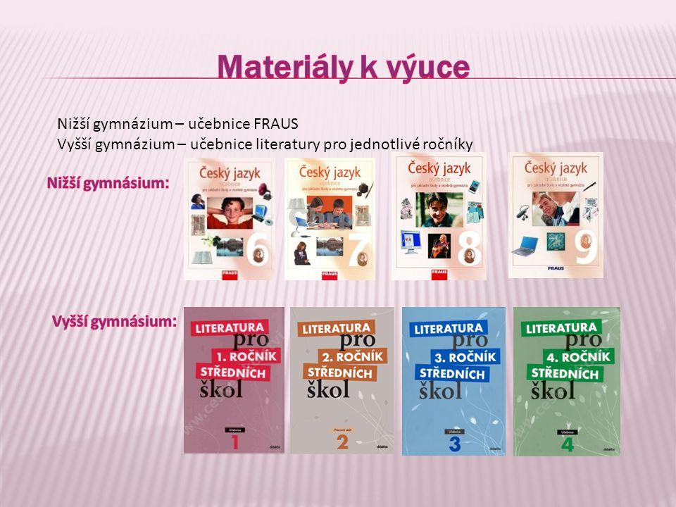 Materiály k výuce Nižší gymnázium – učebnice FRAUS