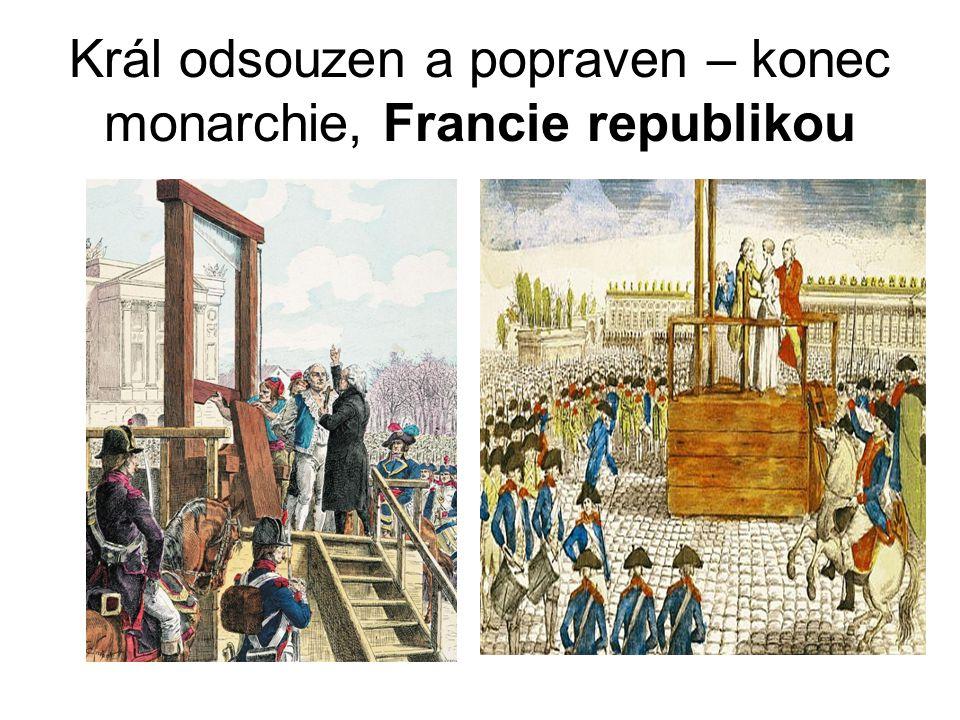 Král odsouzen a popraven – konec monarchie, Francie republikou