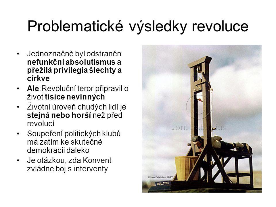Problematické výsledky revoluce