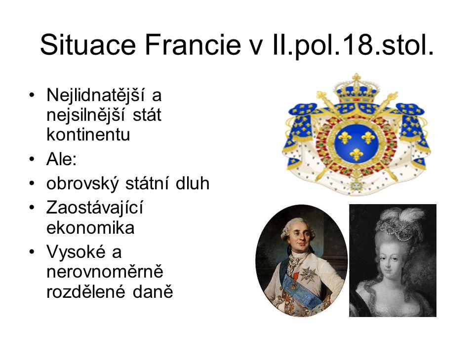 Situace Francie v II.pol.18.stol.