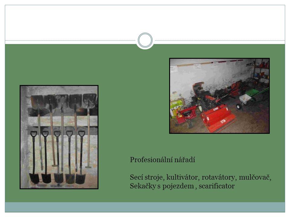 Profesionální nářadí Secí stroje, kultivátor, rotavátory, mulčovač, Sekačky s pojezdem , scarificator.