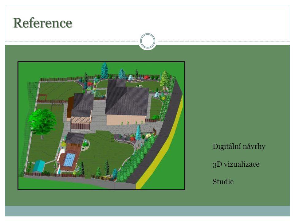 Reference Digitální návrhy 3D vizualizace Studie