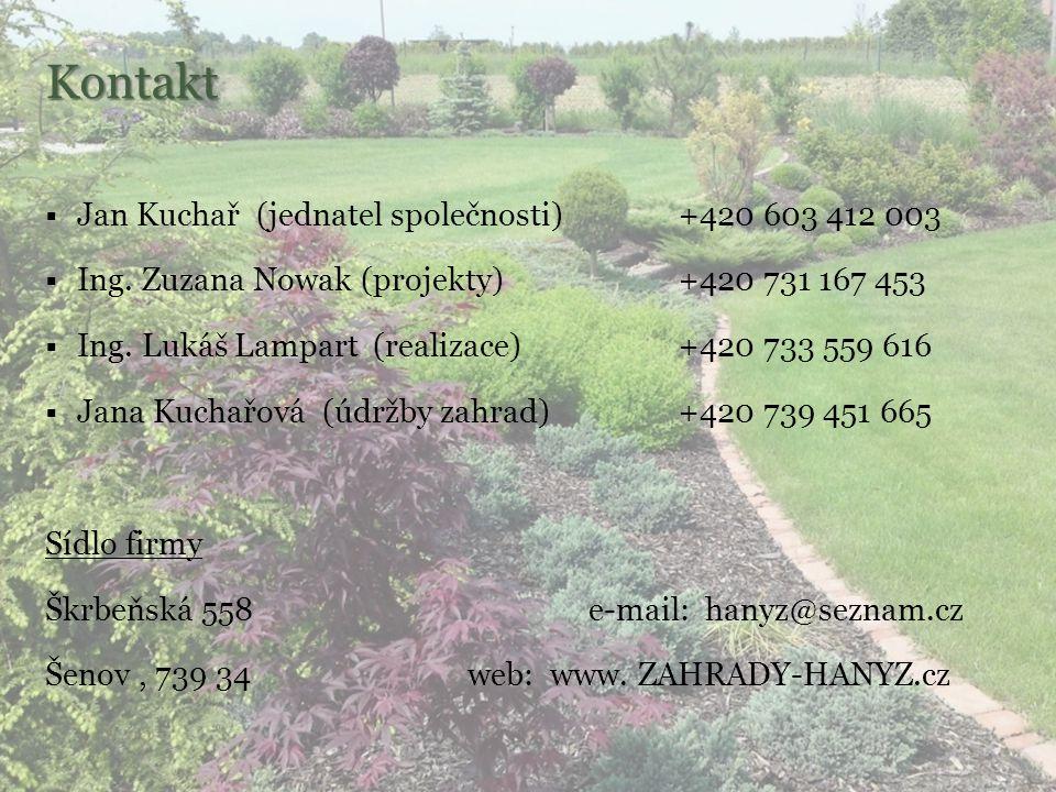 Kontakt Jan Kuchař (jednatel společnosti) +420 603 412 003