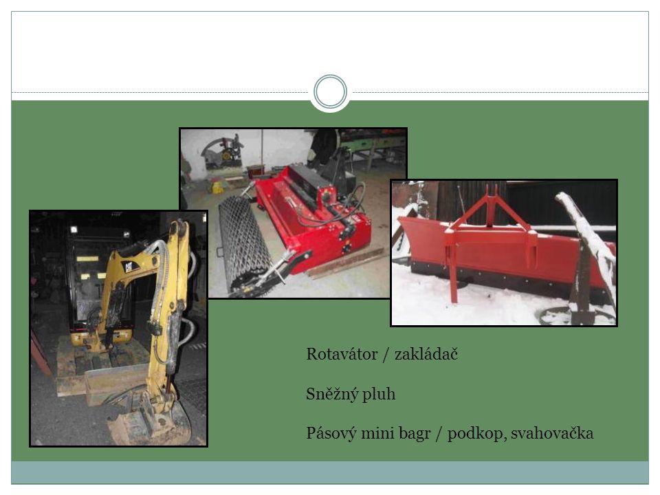 Rotavátor / zakládač Sněžný pluh Pásový mini bagr / podkop, svahovačka