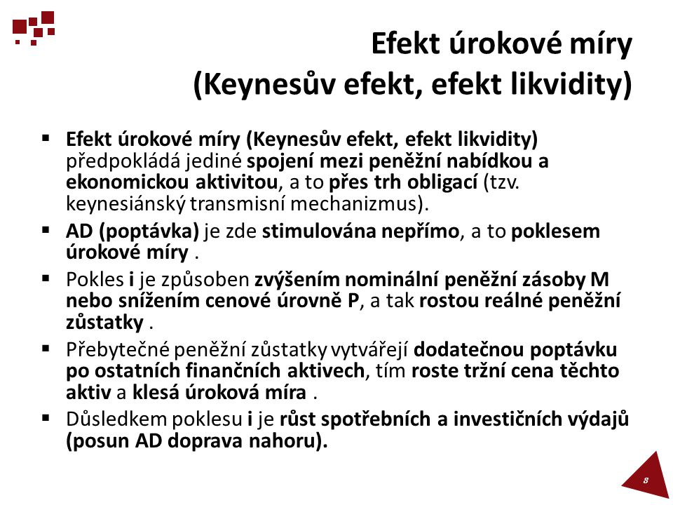 Efekt úrokové míry (Keynesův efekt, efekt likvidity)