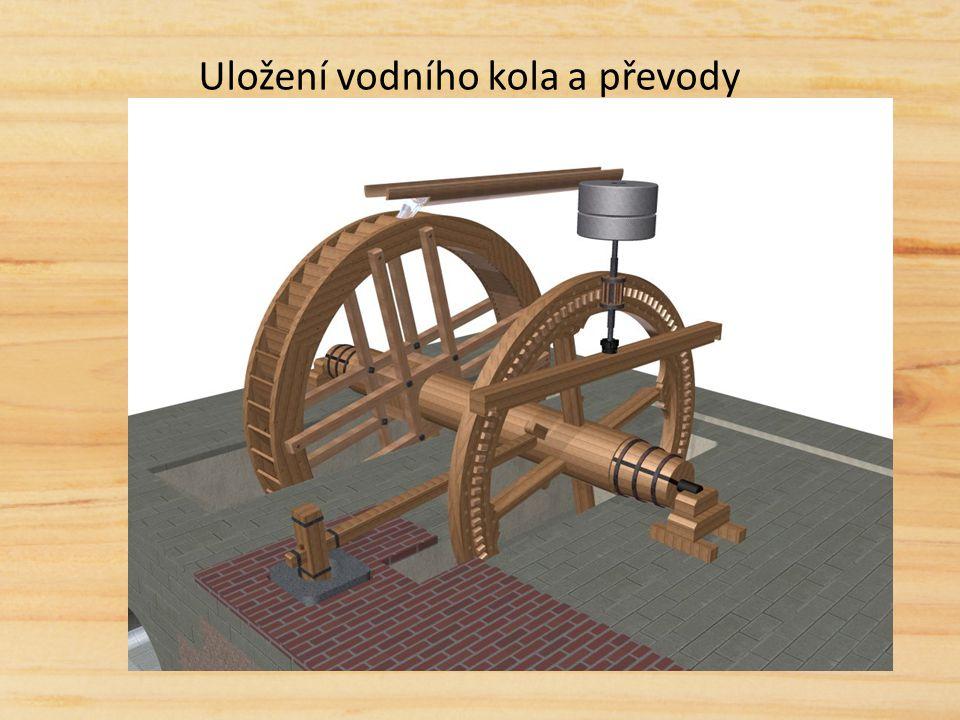 Uložení vodního kola a převody