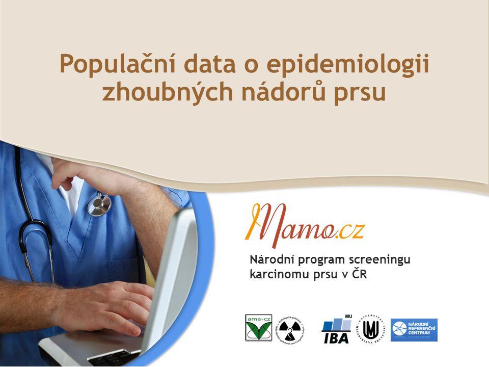 Populační data o epidemiologii zhoubných nádorů prsu