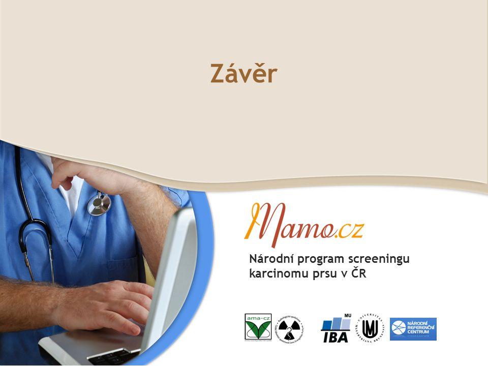 Závěr Národní program screeningu karcinomu prsu v ČR