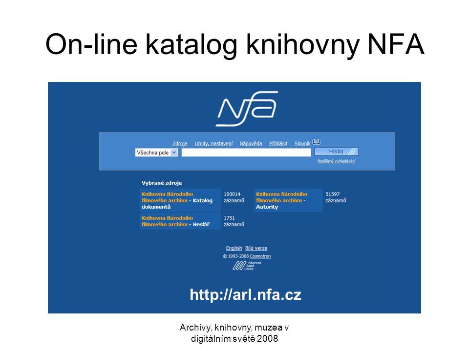 On-line katalog knihovny NFA