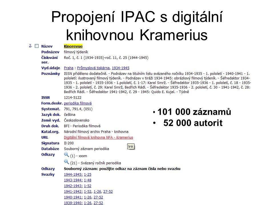 Propojení IPAC s digitální knihovnou Kramerius
