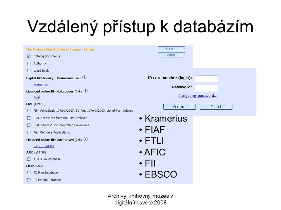 Vzdálený přístup k databázím