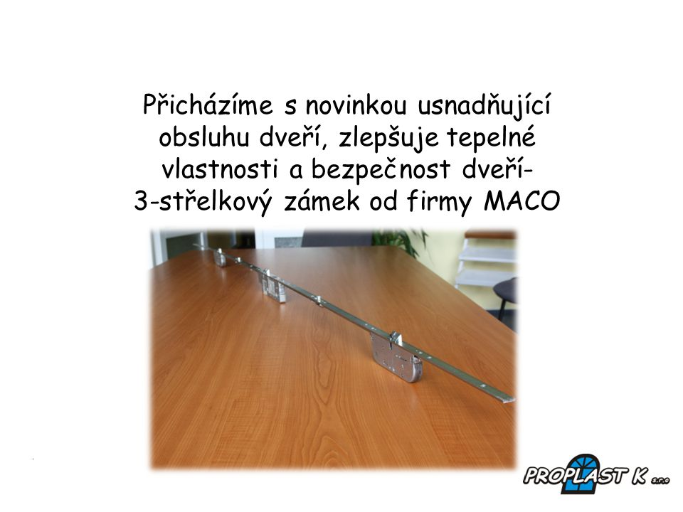3-střelkový zámek od firmy MACO