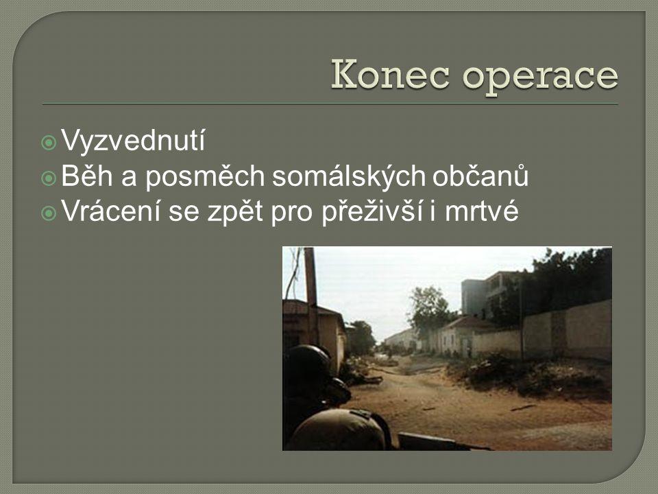 Konec operace Vyzvednutí Běh a posměch somálských občanů
