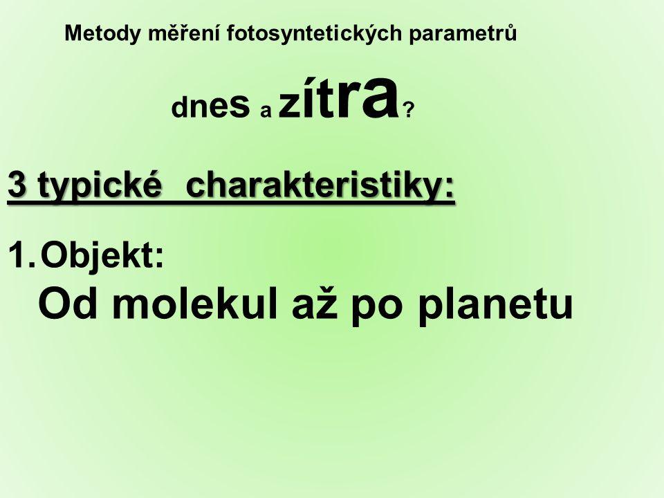 Metody měření fotosyntetických parametrů dnes a zítra