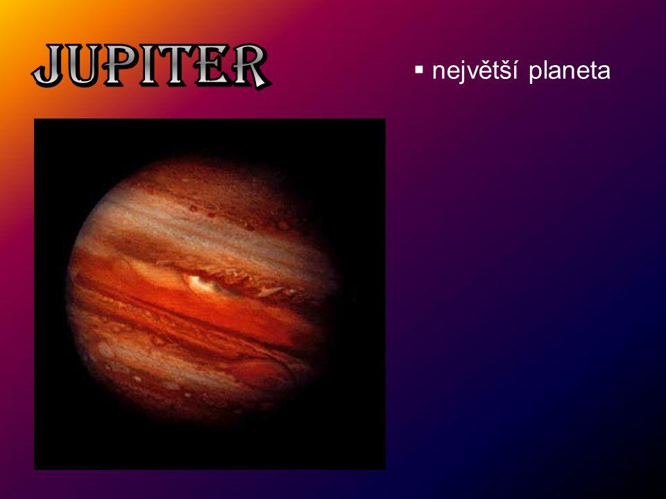 JUPITER největší planeta