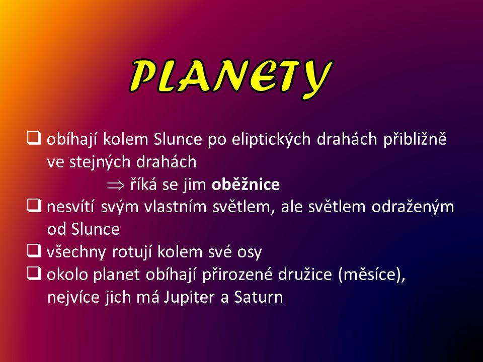 PLANETY obíhají kolem Slunce po eliptických drahách přibližně