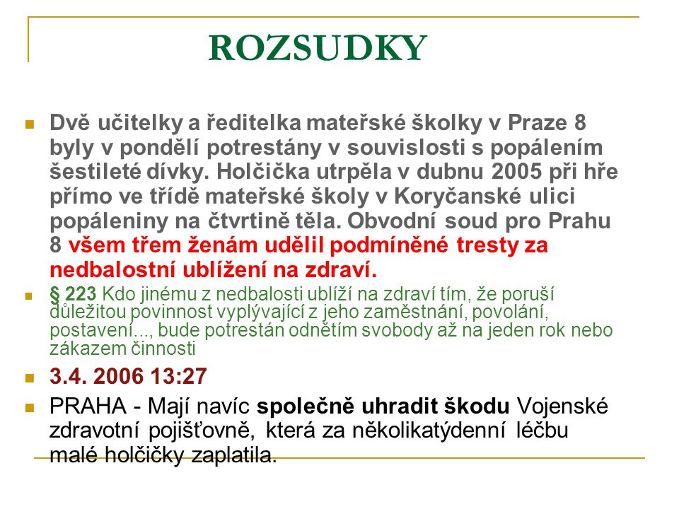 ROZSUDKY