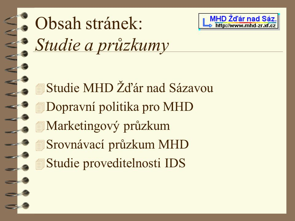 Obsah stránek: Studie a průzkumy