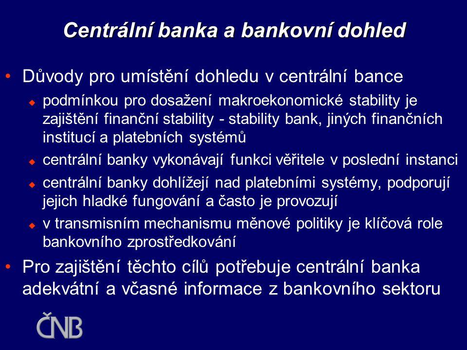 Centrální banka a bankovní dohled