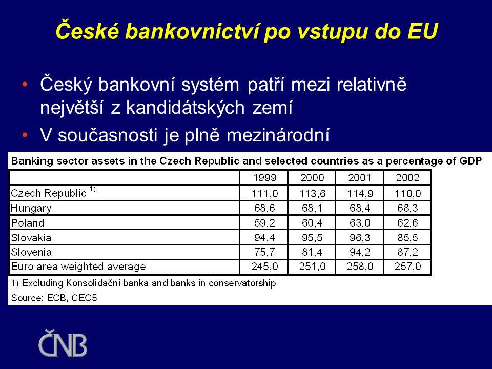 České bankovnictví po vstupu do EU