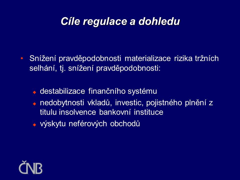 Cíle regulace a dohledu