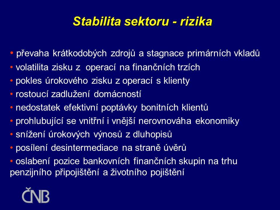 Stabilita sektoru - rizika
