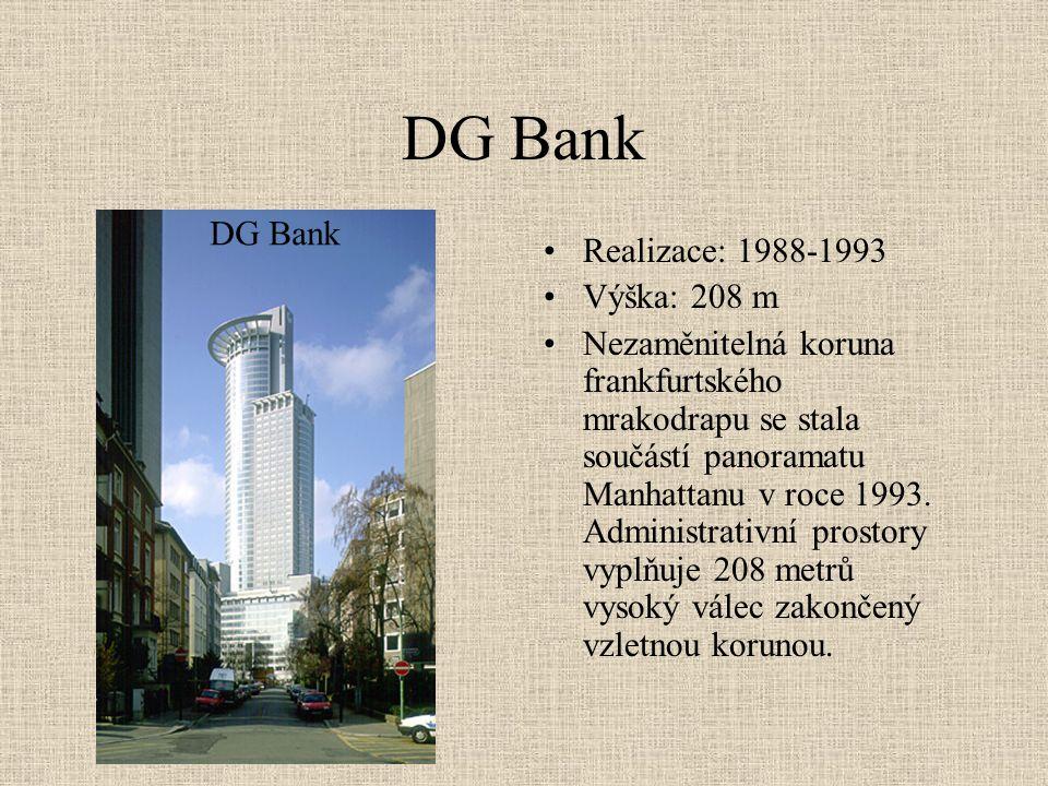 DG Bank DG Bank Realizace: 1988-1993 Výška: 208 m