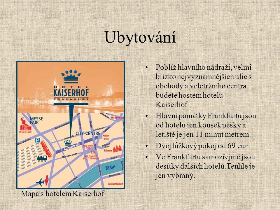 Ubytování Poblíž hlavního nádraží, velmi blízko nejvýznamnějších ulic s obchody a veletržního centra, budete hostem hotelu Kaiserhof