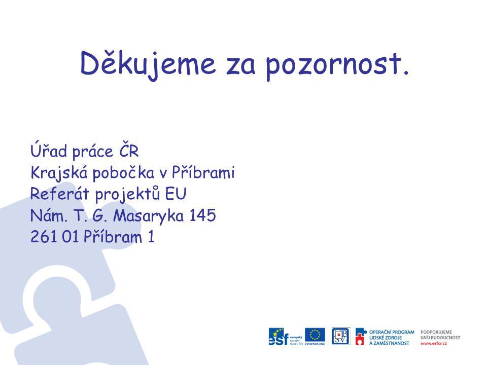 Děkujeme za pozornost. Úřad práce ČR Krajská pobočka v Příbrami