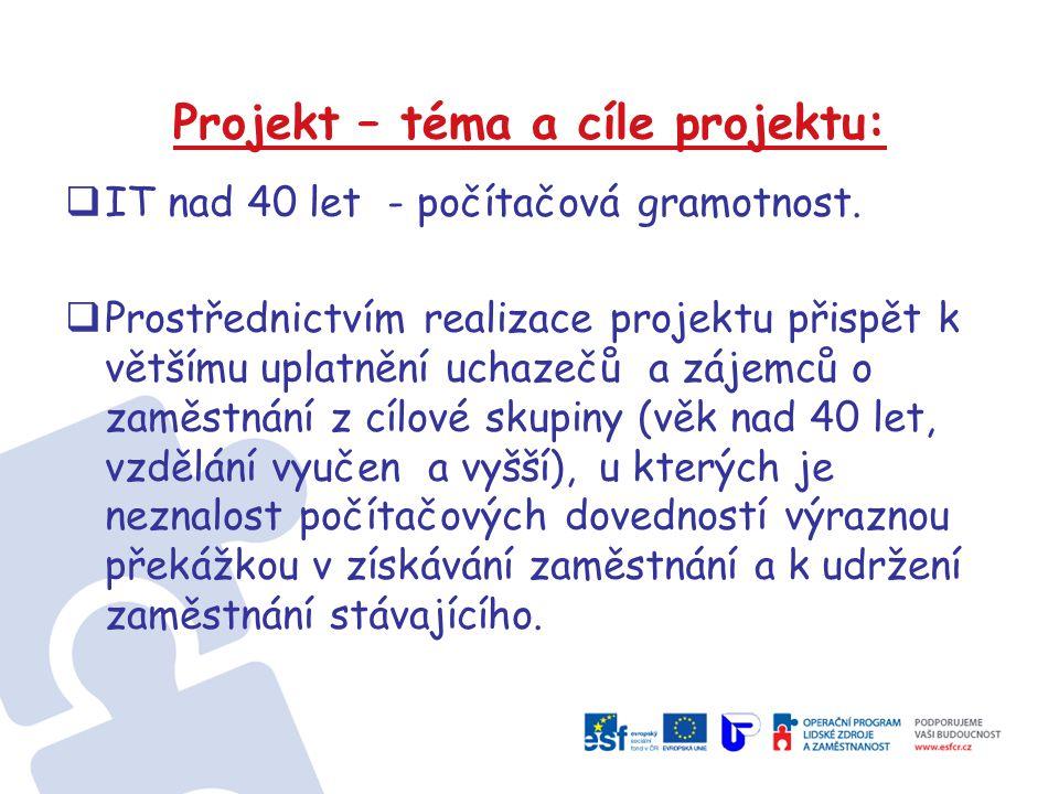 Projekt – téma a cíle projektu: