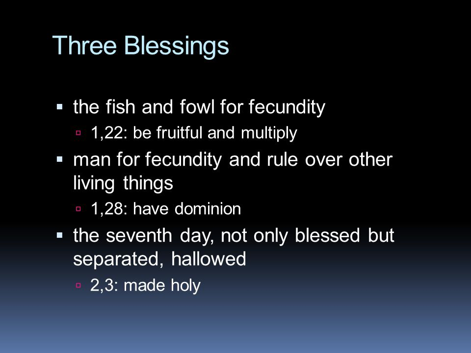 Three Blessings the fish and fowl for fecundity