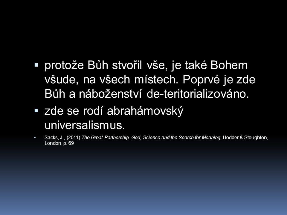 zde se rodí abrahámovský universalismus.
