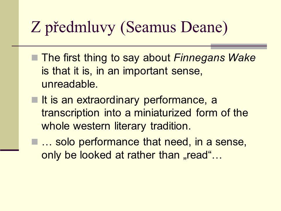 Z předmluvy (Seamus Deane)