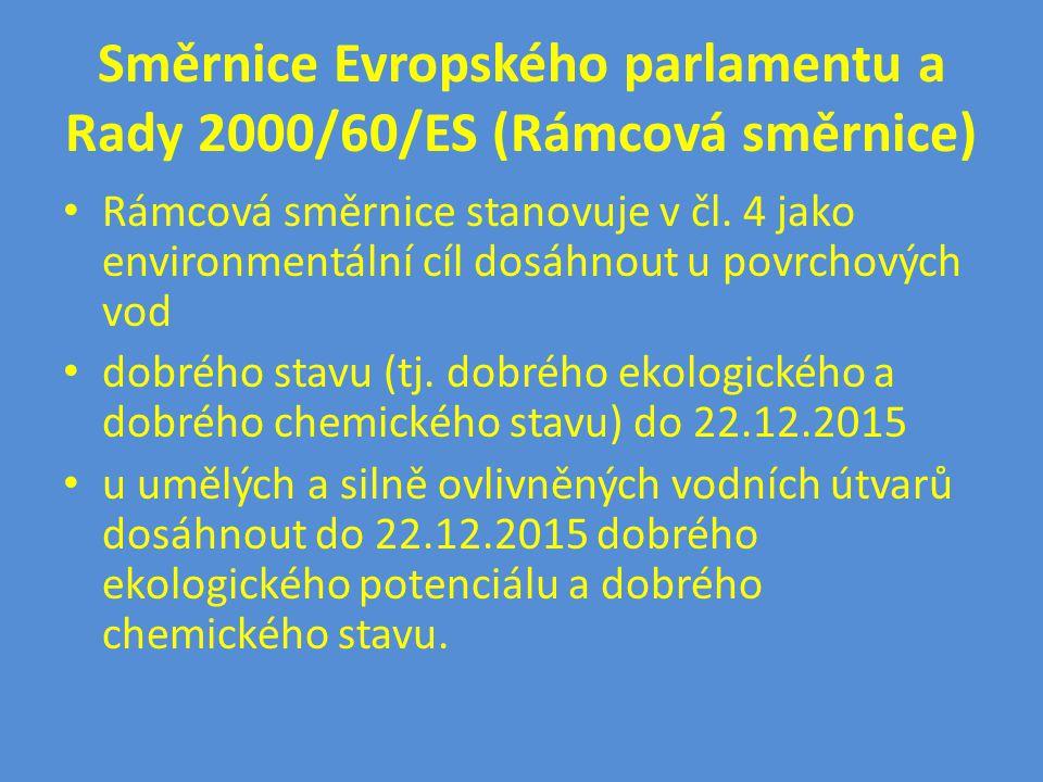 Směrnice Evropského parlamentu a Rady 2000/60/ES (Rámcová směrnice)