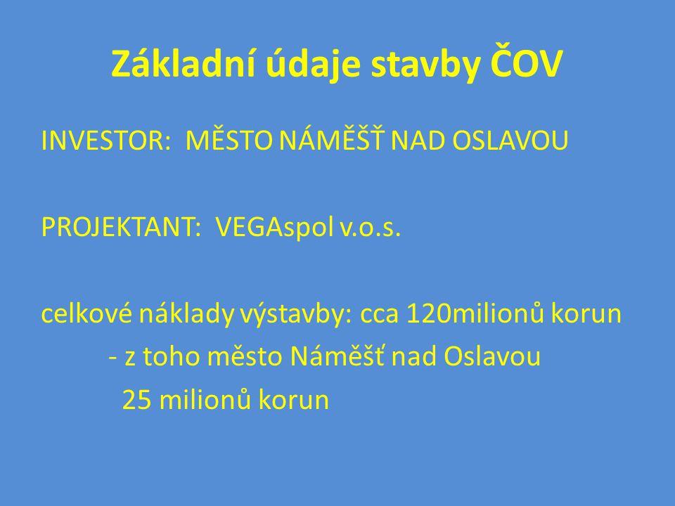 Základní údaje stavby ČOV