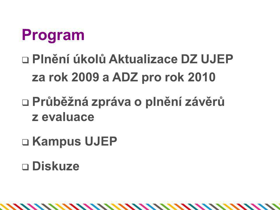 Program Plnění úkolů Aktualizace DZ UJEP