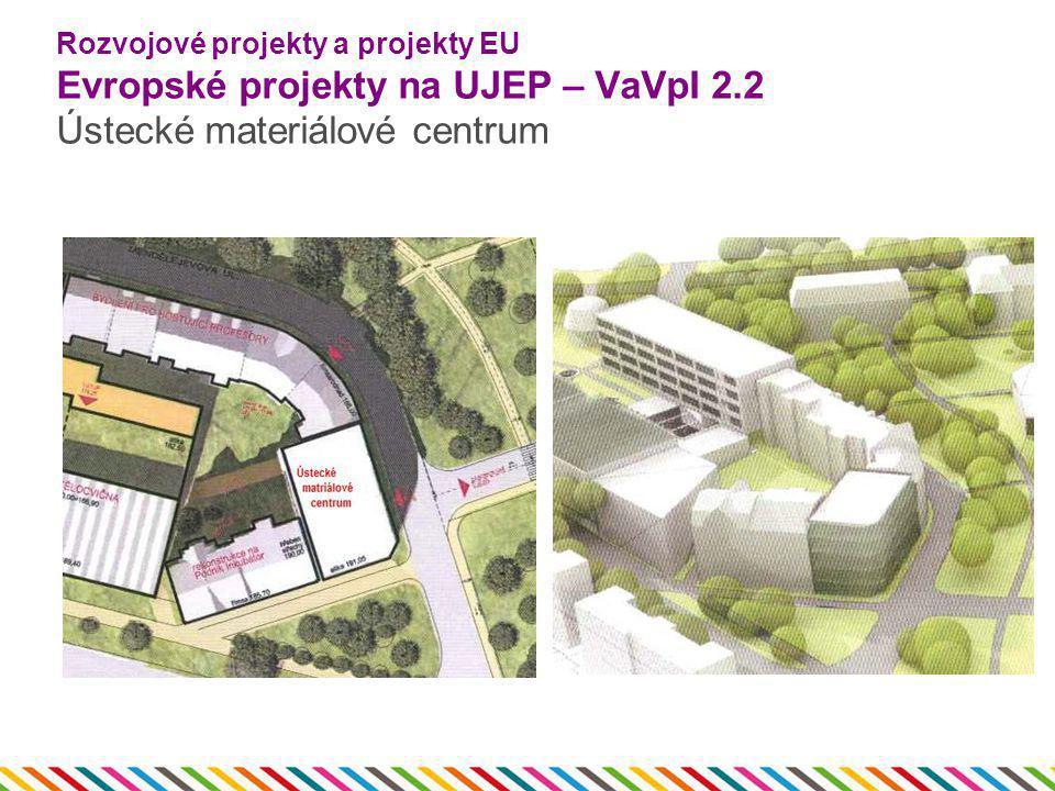 Rozvojové projekty a projekty EU Evropské projekty na UJEP – VaVpI 2