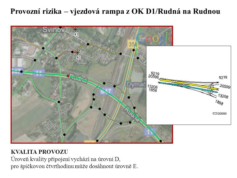 Provozní rizika – vjezdová rampa z OK D1/Rudná na Rudnou