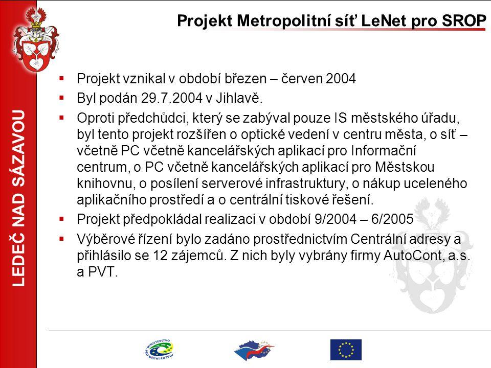 Projekt Metropolitní síť LeNet pro SROP