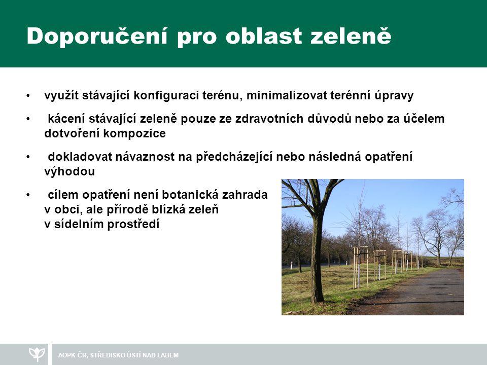 Doporučení pro oblast zeleně