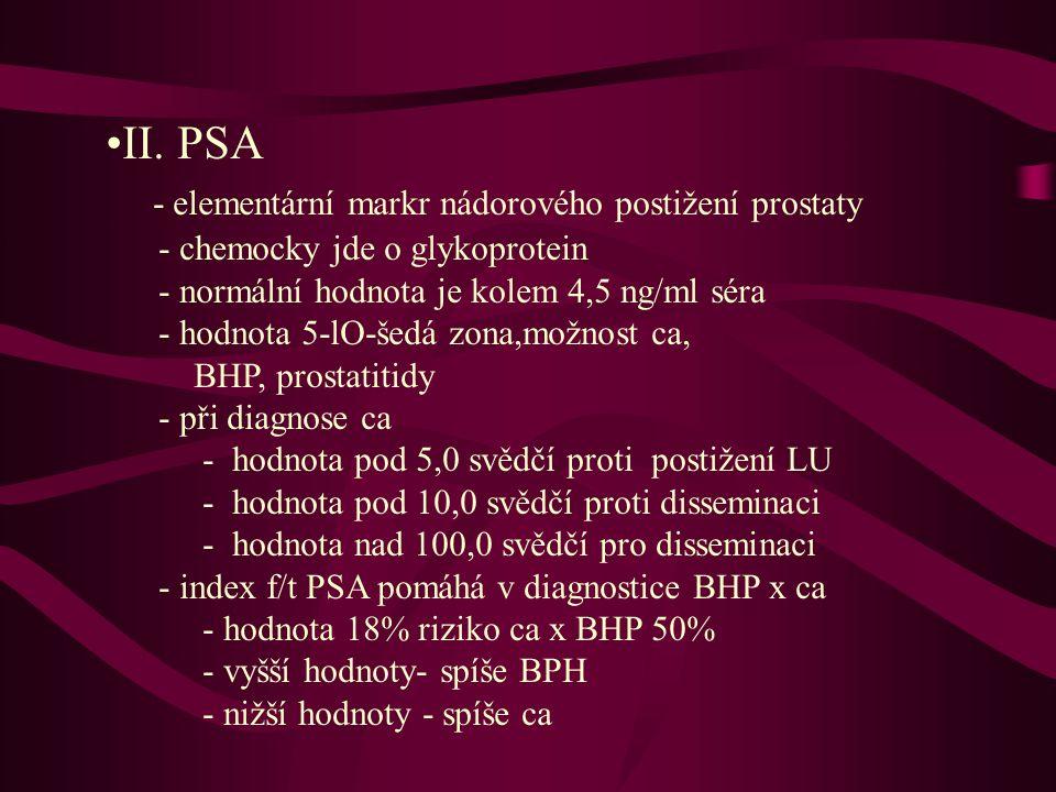 - elementární markr nádorového postižení prostaty