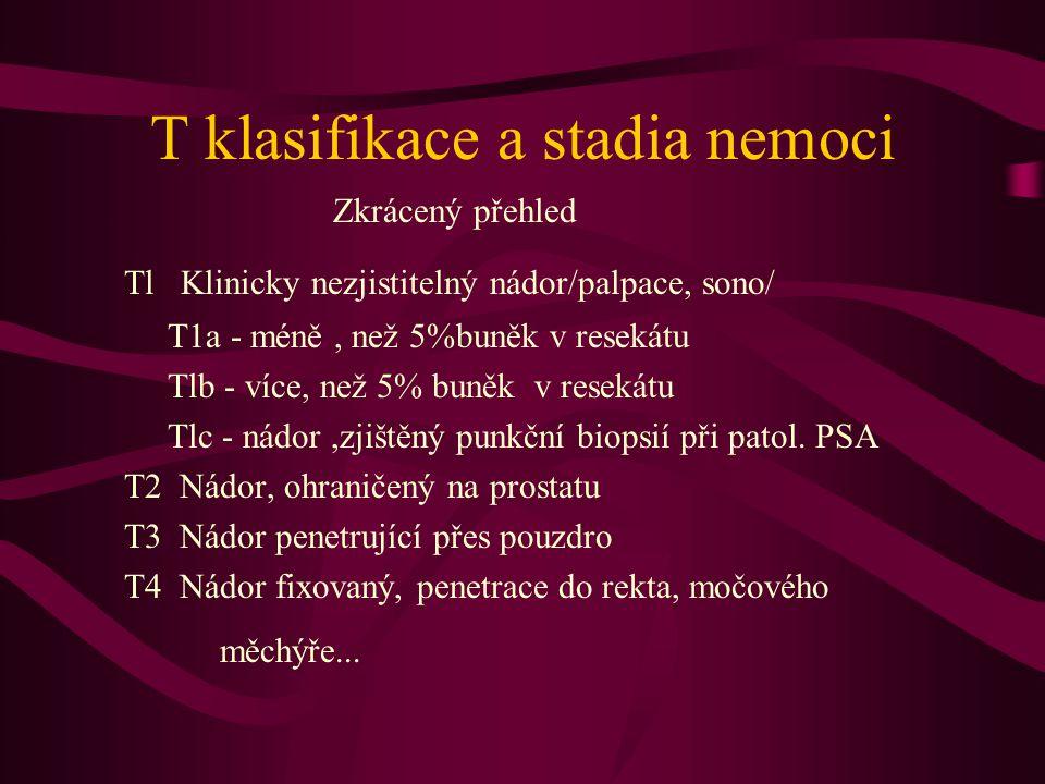T klasifikace a stadia nemoci