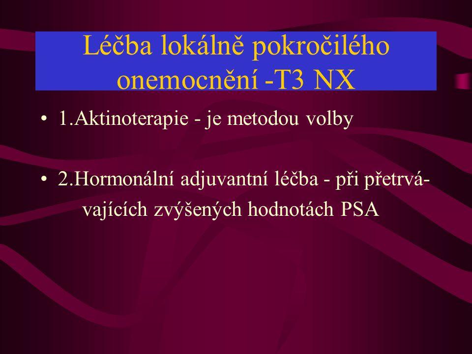 Léčba lokálně pokročilého onemocnění -T3 NX