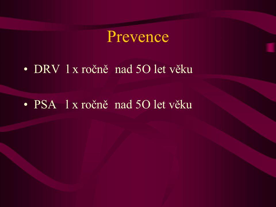 Prevence DRV l x ročně nad 5O let věku PSA l x ročně nad 5O let věku