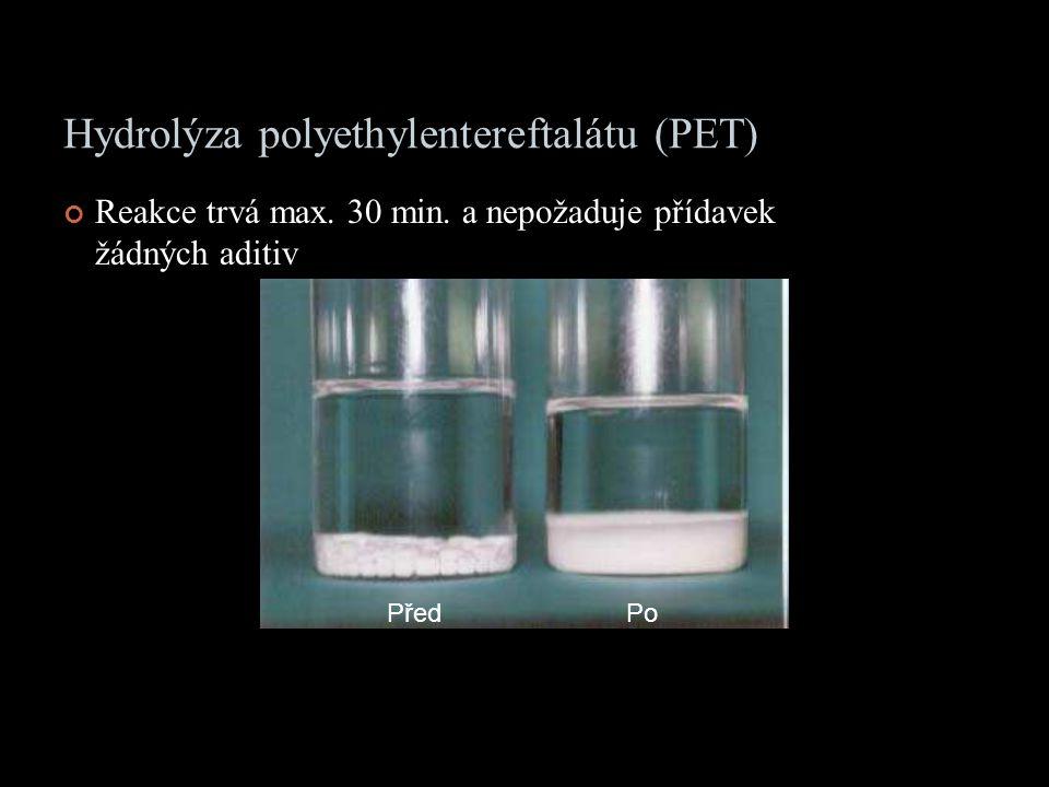 Hydrolýza polyethylentereftalátu (PET)