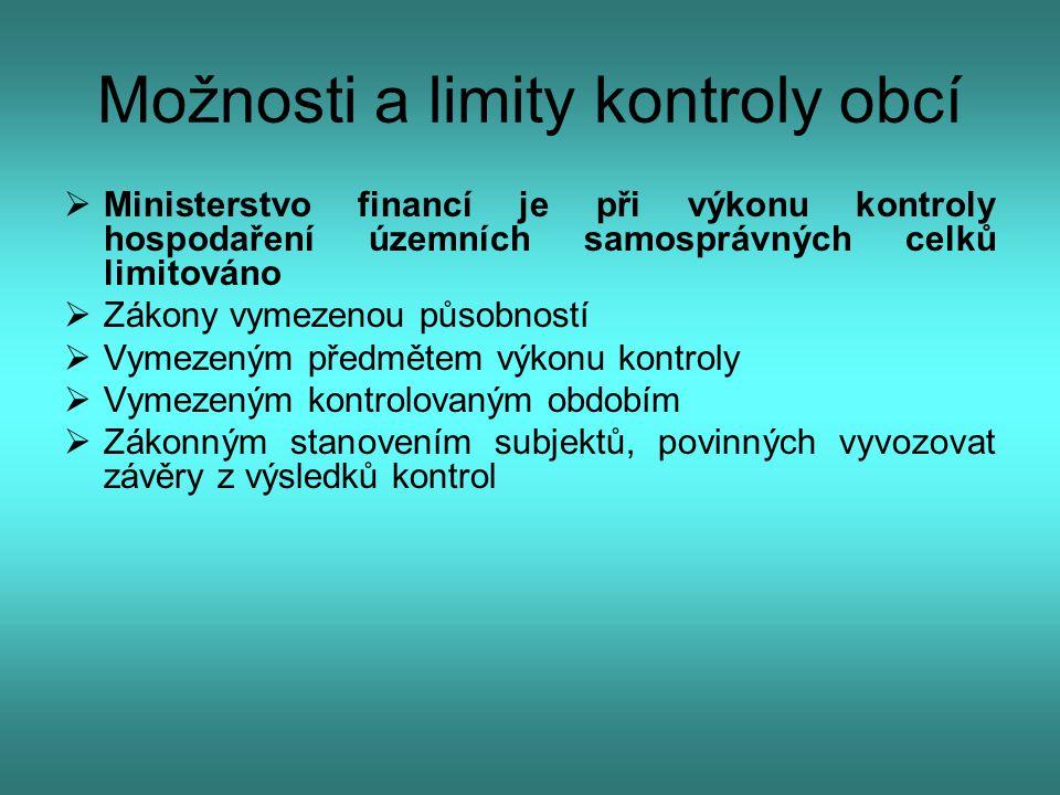 Možnosti a limity kontroly obcí