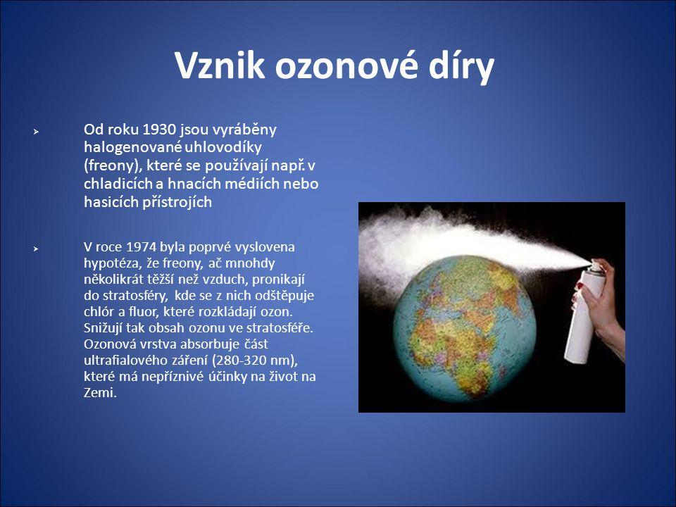 Vznik ozonové díry